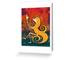 Kazart Phoebe 'Bounce' Greeting Card