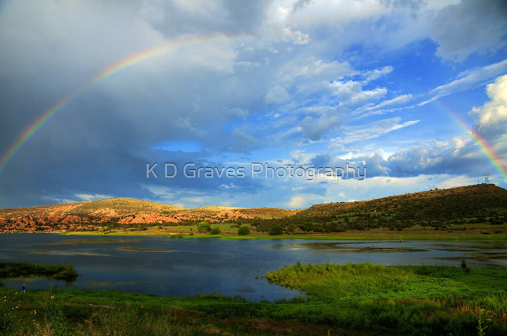 Rainbow Over Watson Lake by K D Graves Photography