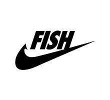 Fwish Hook - Black on White by fishermenclub
