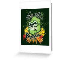 Gorilla Vegan Greeting Card