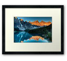 Moraine Lake in the sunrise light Framed Print