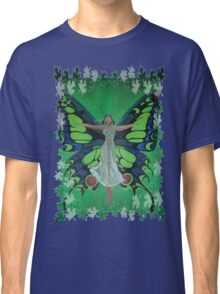 Flutterby Fairy With Leaf Border Isolated Classic T-Shirt