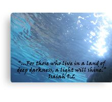 """Isaiah 9:2""  by Carter L. Shepard Canvas Print"