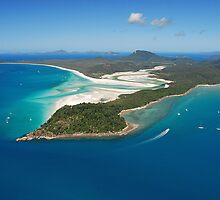 Whitehaven Beach, Tongue Point and Hill Inlet by Janette Rodgers