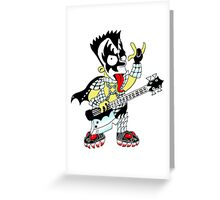 Bart Joins KISS Greeting Card