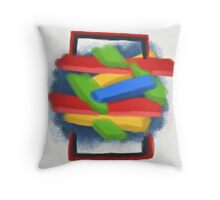 Uncontained - Digital Abstract on Canvas Throw Pillow