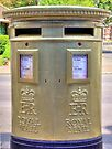 Gold Postbox by Colin J Williams Photography