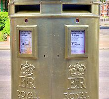 Gold Postbox by Colin  Williams Photography