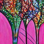 Pink Confetti Tree 3 by ShellsintheBush