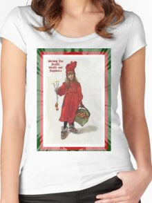 Wishing You Health Wealth and Happiness Greeting Card Women's Fitted Scoop T-Shirt