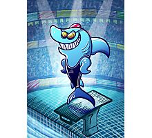 Olympic Swimmer Shark Photographic Print