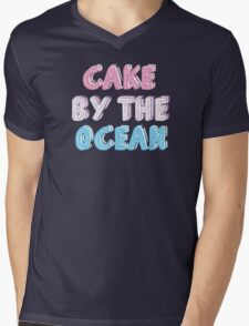 Cake by the Ocean Dark Mens V-Neck T-Shirt