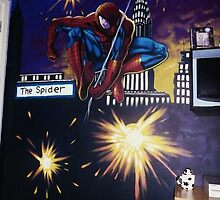 spiderman wall mural by imajica