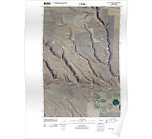 USGS Topo Map Washington State WA Douty Canyon 20110407 TM Poster