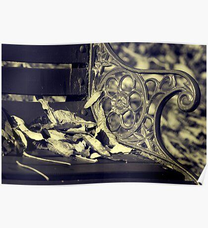 Autumn Bench seat Poster