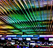 HK airport at the big Typhoon storm moment... by Kornrawiee