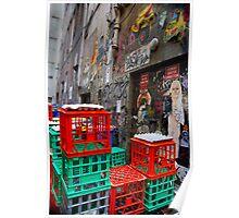 Street Art in Crates - Melbourne, Australia Poster