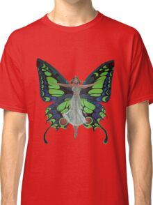 Art Nouveau Vintage Flapper With Butterfly Wings Classic T-Shirt