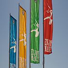 Manly Beach flags Australia by Carlo Marandola