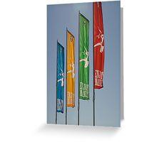 Manly Beach flags Australia Greeting Card