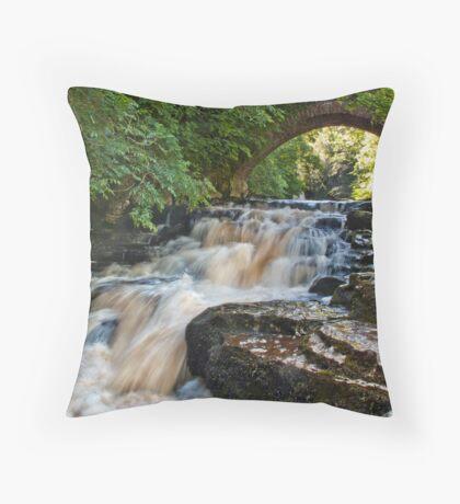 West Burton Falls Throw Pillow