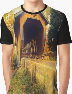 Smith Rapids Covered Bridge,Price County,Wisconsin U.S.A. Graphic T-Shirt