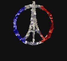 Peace for Paris Flower Flag T-Shirt
