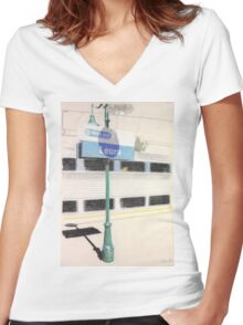 Way Out in Leura Women's Fitted V-Neck T-Shirt