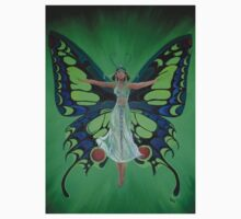 Art Nouveau Vintage Flapper With Butterfly Wings Kids Clothes