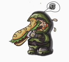 Master Chief VS. Sandwich by EpicGorilla