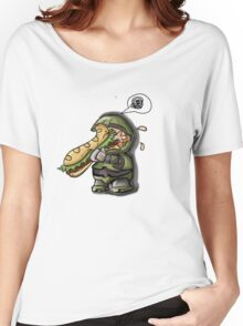 Master Chief VS. Sandwich Women's Relaxed Fit T-Shirt