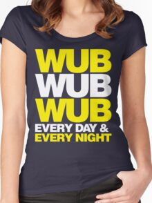 wub wub wub every day & every night Women's Fitted Scoop T-Shirt