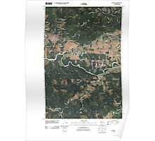 USGS Topo Map Washington State WA Oakville 20110406 TM Poster