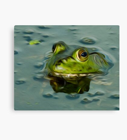 Bullfrog Oil Canvas Print