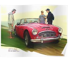 Austin Healey Poster