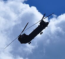 RAF Chinook Demo Silhouette by merlin676