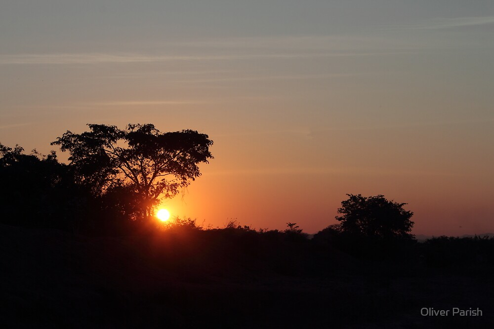 African sunset by Oliver Parish