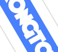 Wrongtown Capsule - White Text Blue Back Sticker