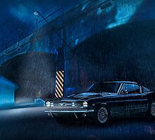 Night Storm - Mustang Fastback, Darlinghurst, Sydney by Mark Richards