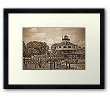 Drum Point Lighthouse - Calvert Marine Museum - Maryland U.S.A. Framed Print