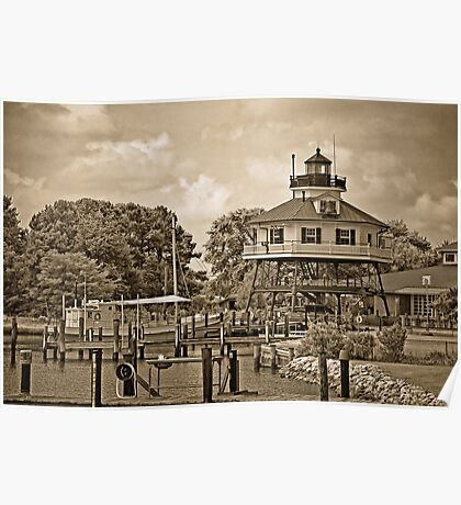 Drum Point Lighthouse - Calvert Marine Museum - Maryland U.S.A. Poster