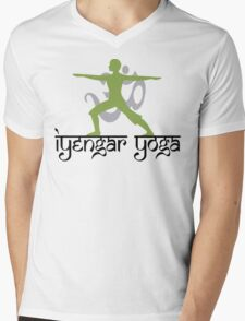 Iyengar Yoga T-Shirt Mens V-Neck T-Shirt