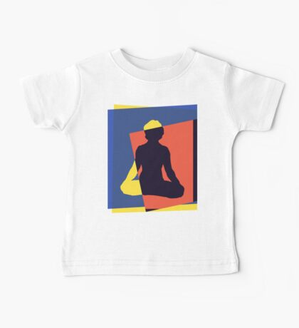 Abstract Yoga T-Shirt Baby Tee
