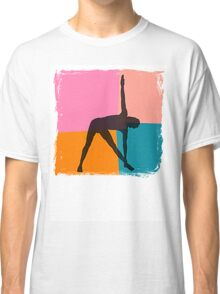 Triangle Pose Abstract Yoga T-Shirt Classic T-Shirt