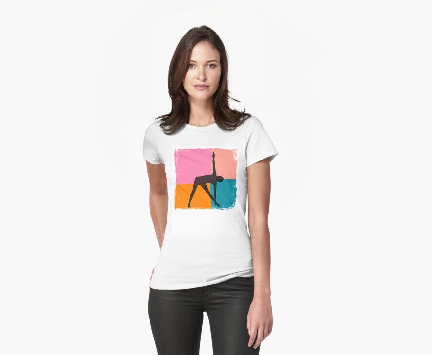 Triangle Pose Abstract Yoga T-Shirt by T-ShirtsGifts