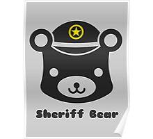 Sheriff Bear Mascot Poster