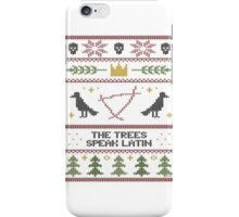 The (Holiday) Trees Speak Latin iPhone Case/Skin