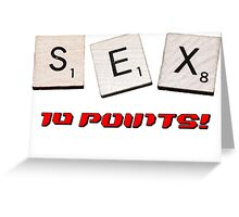 Sex scrabble Greeting Card