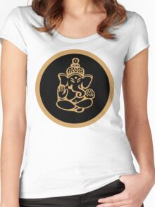Ganesha T-Shirt Women's Fitted Scoop T-Shirt