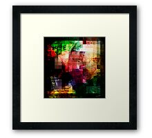 Colorful Currency Collage Framed Print